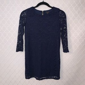 Forever 21 Girls Long-Sleeved Navy Lace Dress